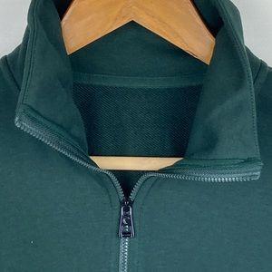 Zyia green classic 1/4 zip sweatshirt medium